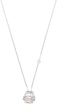 Elizabeth Showers Women's Silver & White Sapphire Cancer Zodiac Necklace
