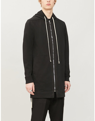 Rick Owens Relaxed-fit cotton-jersey drawstring hoody