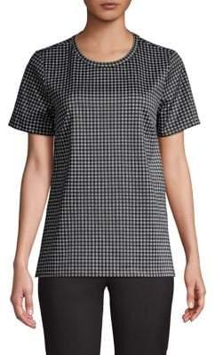 MICHAEL Michael Kors Checkered High-Low Top