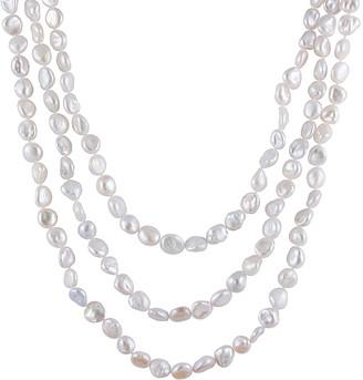 Splendid Pearls 7-9Mm Keshi Freshwater Pearl Endless 72In Necklace