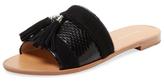 Pour La Victoire Lake Snakeskin Slip-On Sandal