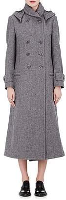 Yohji Yamamoto Regulation Women's Wool Felt Hooded Coat - Grey