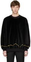 Haider Ackermann Black Velvet Clerck Sweatshirt