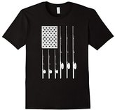 Patriotic Fishing T-Shirt with American USA Flag Great Gift
