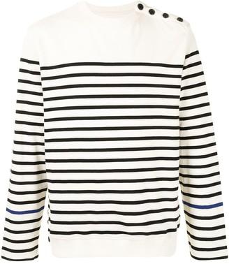 SONGZIO Poetics slogan embroidered striped sweatshirt