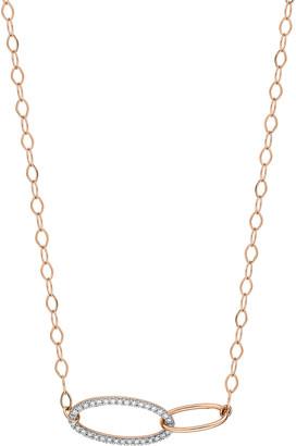 ginette_ny Ellipse 18k Diamond Fusion Necklace