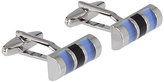 Oxford Cufflinks Bar Blue X