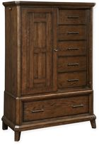 BroyhillTM Estes Park Wood Sliding Door 7-Drawer Chest in Medium Brown Oak