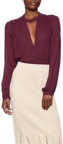 Lush Solid Woven Blouse