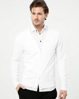 Le Château Cotton Button-Front Cardigan