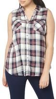 Evans Plus Size Women's Plaid Twill Shirt