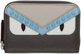 Fendi Grey Mini bag Bugs Zip Around Wallet