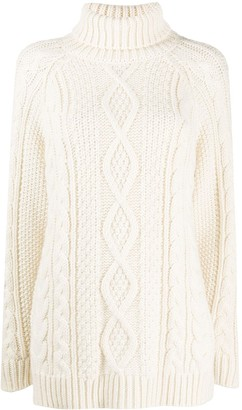 P.A.R.O.S.H. Long Cable-Knit Jumper