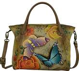 Anuschka Anna Handpainted Leather Slouch Tote Bag-