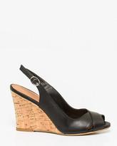 Le Château Leather Slingback Wedge Sandal
