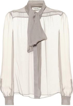 Saint Laurent Silk mousseline blouse