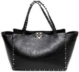 Valentino Garavani 'rockstud Noir' Shopping Bag