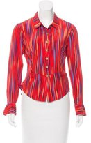 Nanette Lepore Striped Silk Blouse