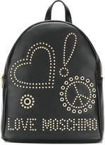 Love Moschino stud and eyelet backpack
