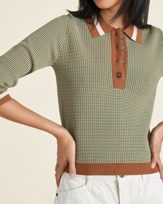 Veronica Beard Hildy Geo-Knit Polo