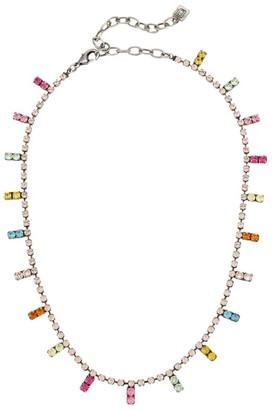 Dannijo Neptune Rainbow Crystal Necklace