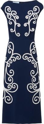 Prada Scroll motif midi dress