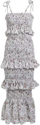 SIR the Label Haisley Ruched Floral Linen Dress