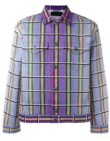 J.W.Anderson Degrad' Plaid Jacket - Purple - Size IT52