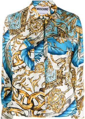 Moschino Ornate Frame And Chain Print Shirt