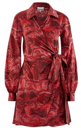 Ganni Silk wrap dress