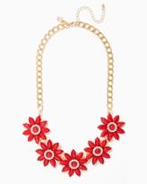 Charming charlie Nia Floral Bib Necklace