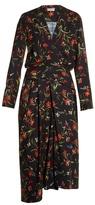 Balenciaga Coquelicot-print midi dress