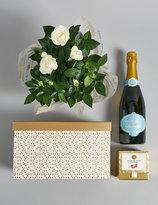 Marks and Spencer Festive Prosecco & Rose Plant Hamper