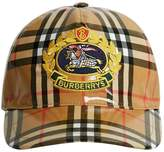 Burberry Archive Logo Coated Vintage Check Baseball Cap
