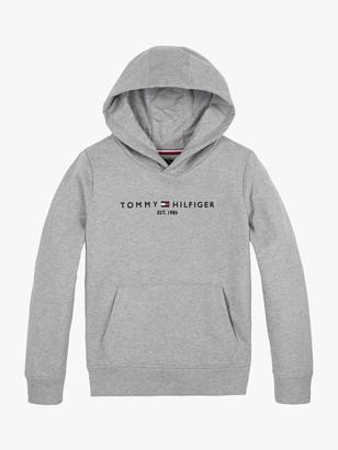 Tommy Hilfiger Boys' Essential Hoodie, Grey