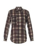 Etoile Isabel Marant Viane organza-cotton check shirt