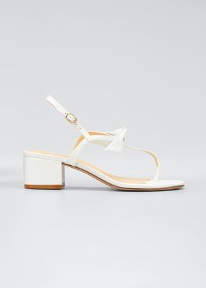 Alexandre Birman Clarita T-Strap Knotted 45mm Sandals