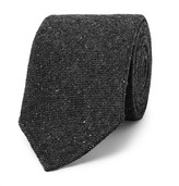 Drakes Drake's - 8cm Mélange Stretch Wool-blend Tie - Gray