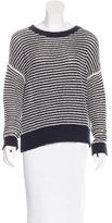 J Brand Striped Scoop Neck Sweater