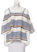 Tanya Taylor Sleeveless Striped Top