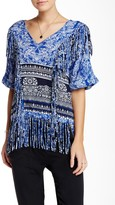 Gypsy 05 Gypsy05 Printed Voile Fringe Blouse