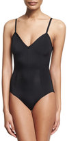 Norma Kamali Slip Mio One-Piece Swimsuit, Black