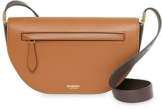 Burberry Olympia Leather Saddle Bag