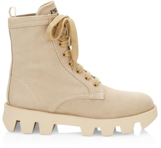 Prada Canvas Hiker Boots
