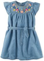 Carter's Embroidered Denim Dress, Little Girls (2-6X) & Big Girls (7-16)