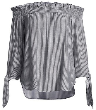 MICHAEL Michael Kors Striped Off-the-Shoulder Top