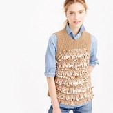 J.Crew Italian embellished cashmere sleeveless sweater