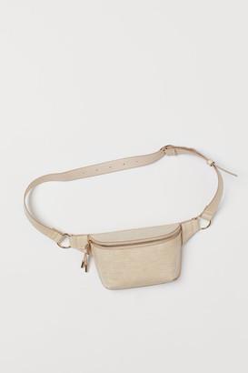 H&M Crocodile-patterned Belt Bag - Beige
