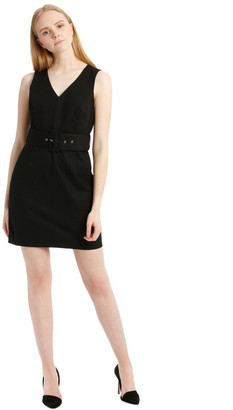 Tokito Black Textured Pencil Dress