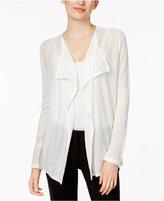 Calvin Klein Sheer-Stripe Flyaway Cardigan